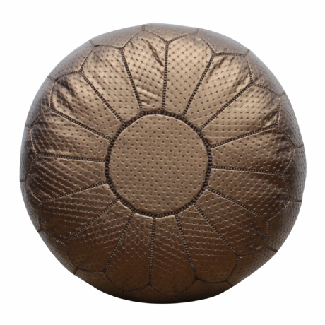 Moroccan Pouffe Pouf Ottoman Footstool COVER ONLY or STUFFED Contemporary Bronze Faux Leather